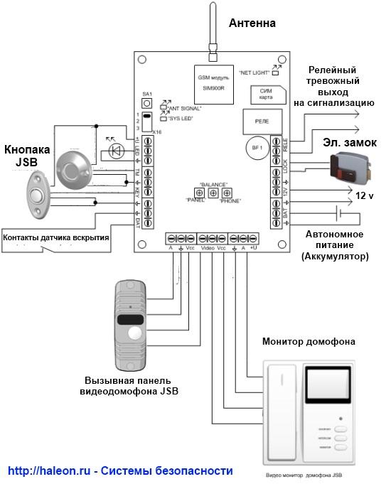 Домофон фортресс схема подключения