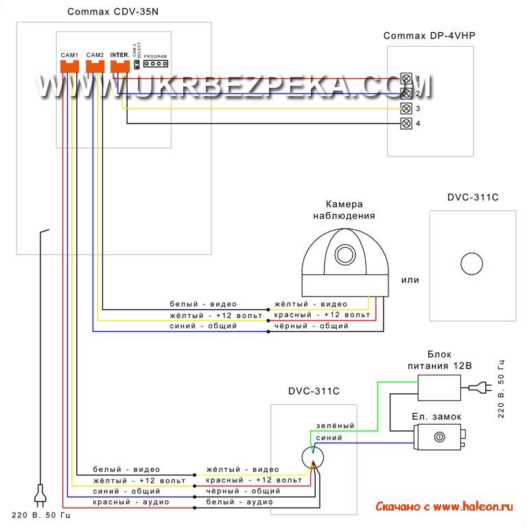 Commax домофоны схемы